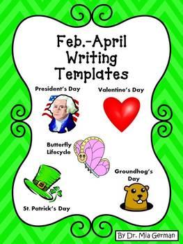 Kindergarten Descriptive Writing & Story Templates for Feb