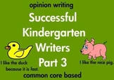 Kindergarten Writing Opinion and Preference Sentences Common Core (printable)