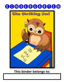 Kindergarten Writing Owl (Fry's First 100 Words Handwritin