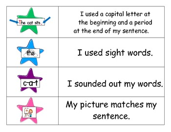 sentence writing checklist