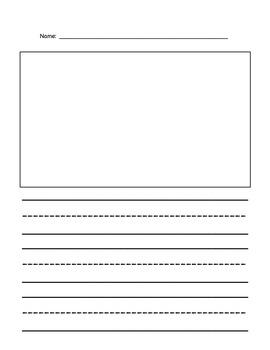 Kindergarten Writing Paper