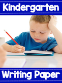 Kindergarten Writing Paper