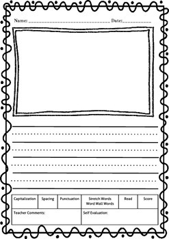 Writing Paper - Kindergarten-2nd Grade