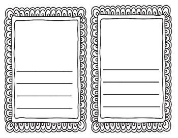 Kindergarten Writing Paper Templates