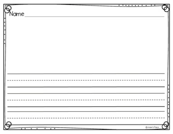 Horizontal writing paper