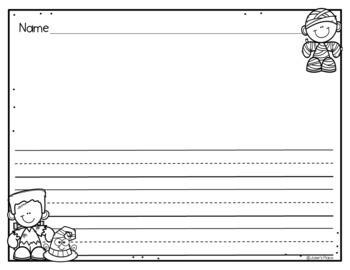 kindergarten writing paper template