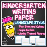 Kindergarten Writing Paper Landscape Style