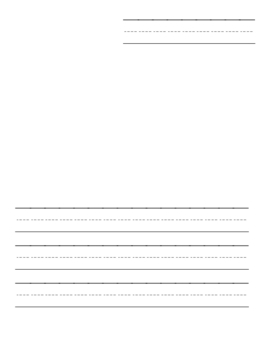 Kindergarten Writing Paper With Picture for Pre-K/K/1st