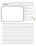 Kindergarten Writing Paper and Rubric