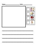 Kindergarten Writing Paper with Rubrics