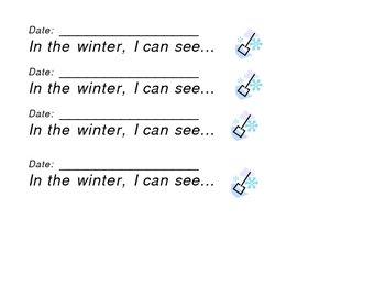 Kindergarten Writing Portfolio Prompts