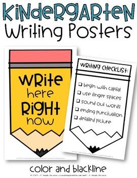 Kindergarten Writing Posters