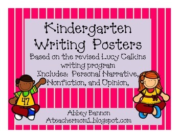 Kindergarten Writing Posters BUNDLE