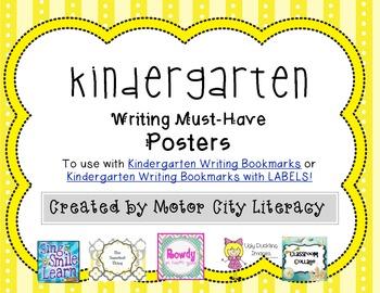 Kindergarten Writing Posters FREEBIE
