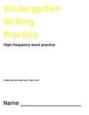 Kindergarten Writing Practice, Journal, Complete Sentence Practice