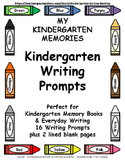 My Kindergarten Memories: Kindergarten Writing Prompts