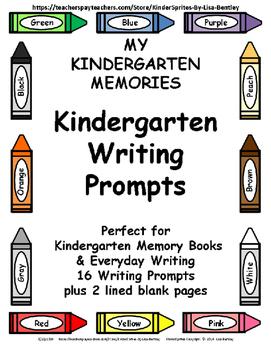 My Kindergarten Memories: Kindergarten Writing Prompts