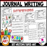 Kindergarten Journal Writing Prompts Differentiated- Set 5 Art