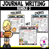 Kindergarten Journal Writing Prompts Differentiated-BUNDLE 2
