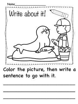 Kindergarten Writing Prompts Field Trip to the Zoo