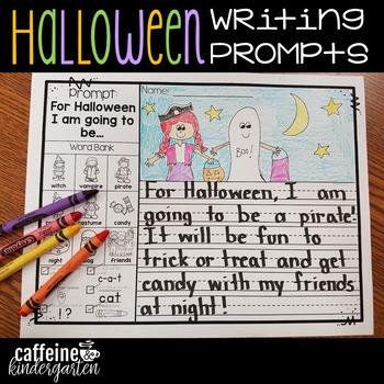 Kindergarten Writing Prompts - Halloween