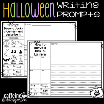 Kindergarten Writing Prompts - Halloween
