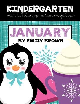 Kindergarten Writing Prompts: January *Notebook OR SmartBoard Versions!*