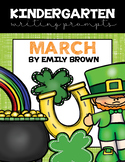 Kindergarten Writing Prompts: March *Notebook OR SmartBoar