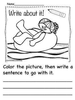 Kindergarten Writing Prompts Summer Fun