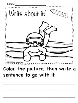 Kindergarten Writing Prompts Summer Fun