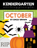 Kindergarten Writing Prompts: October *Notebook OR SmartBoard Versions!*