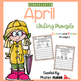Kindergarten Writing Prompts: Opinion Writing & Picture Prompts (April)