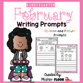Kindergarten Writing Prompts: Opinion Writing & Picture Prompts (February)
