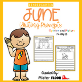 Kindergarten Writing Prompts: Opinion Writing & Picture Prompts (June)