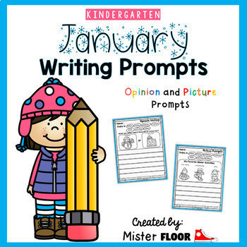 Kindergarten Writing Prompts: Opinion Writing & Picture Prompts (The Bundle)