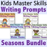 Kindergarten Writing Prompts - Seasons Bundle