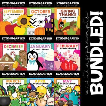 Kindergarten Writing Prompts: Whole Year Bundle!