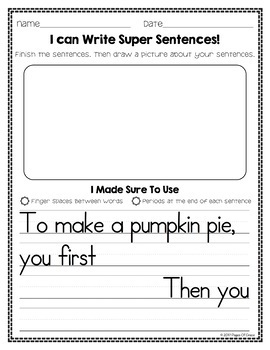 Kindergarten Writing Prompts for the Whole Year