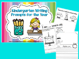 Kindergarten Writing Prompts for the Year