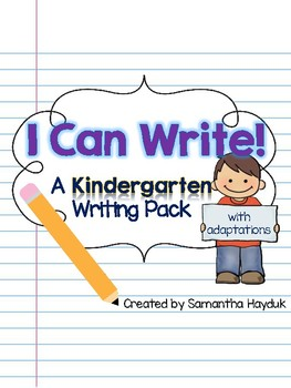 Kindergarten Writing Prompts with Adaptations