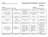 Kindergarten Writing Rubric Bundle