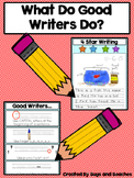 Kindergarten Writing Rubric Posters-What Do Good Writers Do?