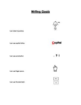 Kindergarten Writing Self-Assessment Rubric