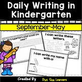 Kindergarten Writing Activities | Writing Prompts or Journal | August to May