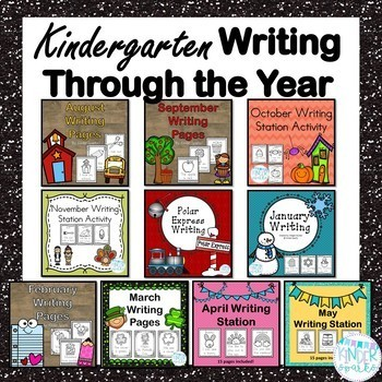 Kindergarten Writing Station Yearly Bundle