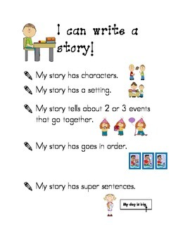 Kindergarten Writing Success Criteria Bundle