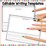 Kindergarten Writing Template (Editable)