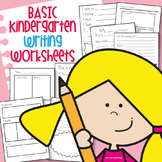 Basic Kindergarten Writing Worksheets Activity Pack