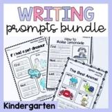 Kindergarten Writing Worksheets Prompts Bundle - Opinion, Narrative, Procedure