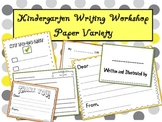 Kindergarten Writing Workshop Paper Variety